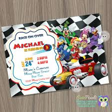 Mickey Mouse Roadster Racers Invitation Mickey And The