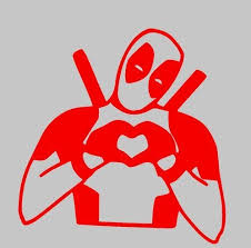 Arts Deadpool Making Heart Sign Car Truck Suv Laptop Mac Toolbox Wall Window Decal Sticker 5 5 Inches Red And Silver Eyes Mimbarschool Com Ng