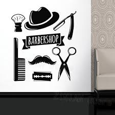 Wall Decal Window Sticker Beauty Salon Face Hair Salon Tools Hairstyle Style Hair Man Beard Barbershop Wall Sticker Razor Inexpensive Wall Decals Inspirational Wall Decals From Joystickers 11 67 Dhgate Com