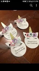 Tarjetas De Gracias Por Venir De Unicornio Decoracion Unicornio