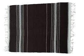 woollen mexican blanket l brown