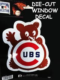 Chicago Cubs Waving Bear Die Cut Sticker Clark Street Sports