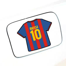 3 Pc Soccer Team Famous Messi 10 Of Barcelona Glue Sticker Car Decal Covers Argentine Lionel Messi Auto Geek