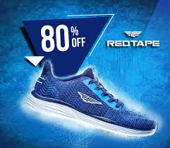 deal flat 80 off on red tape shoes