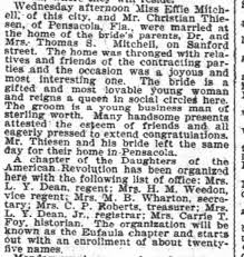 29 Apr 1901 Atlanta Constitution Effie Mitchell marries Christian Thiesen  of Pensacola - Newspapers.com