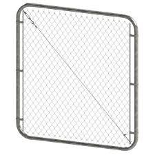 Peak Products 68 Inch W X 5 Ft H Galvanized Steel Adjustable Chain Link Fence Gate With 2 The Home Depot Canada