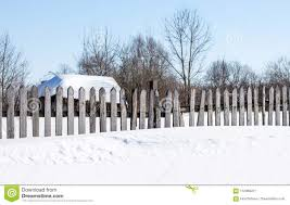 Wooden Fence Fencing Green Garden In Winter Stock Image Image Of Fence Rural 112088221