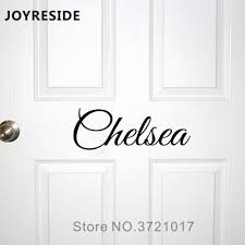 Kids Room Door Decal Custom Baby Names Wall Or Doors Decals Home House Warm Decoration Vinyl Sticker Customed Names M020 Wall Stickers Aliexpress