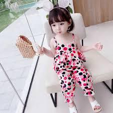 Bộ thời trang bé gái chấm bi áo tầng hai dây cùng quần bo gấu phong cách dễ  thương, đáng iu. Hàng quảng châu BG83, Giá tháng 11/2020