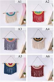 Amazon Com Ywxjy Kids Room Decor Bohemian Hand Woven Cotton Tassel Wall Tapestry Baby Room Mural Wall Decoration Diy Nursery Tent Hanging Pendant Boys Girls Room Accessories A1 Home Kitchen