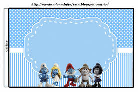 Smurfs Free Printable Candy Bar Labels For Boys Party Con
