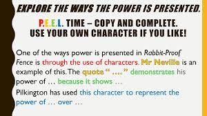 Power In Pictures Rabbit Proof Fence Wk2 Ppt Download