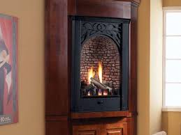 ventless corner gas fireplace fire
