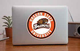 Oregon State Beavers Circle Logo Vinyl Decal Sticker 10 Sizes Sportz For Less