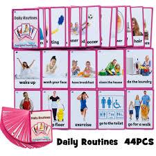 45 Cái/bộ Các Thói Quen Hàng Ngày Tiếng Anh Bỏ Túi Trẻ Em ...