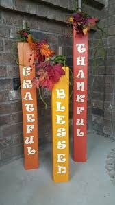 Fence Post Pumpkins For Thanksgiving Fence Post Crafts Fall Crafts Fall Decor Diy