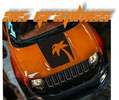 Vinyl Hood Decal Compatible With Jeep Renegade Palm Tree Blackout Decal Ebay