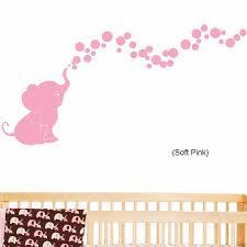 Poomoo Wall Decals Elephant Blowing Bubbles Baby Wall Decal Vinyl Wall Nursery Room Decor 60cmx127cm Nursery Room Decoration Room Decorationbaby Wall Decals Aliexpress