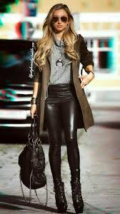 23 leather pants outfits 2019