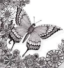 Anti Stress Kleurplaten Zomer Vlinder 14