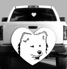 Samoyed Heart Vinyl Decal Dogs Car Vehicle Sticker Rockin Da Dogs
