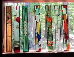 stained glass panel gift suncatcher art