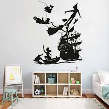 Peter Pan Pirates Ship Wall Decals For Kids Room Decoration Boy Dream Cartoon Vinyl Wall Sticker Waterproof Home Art Decor 4250 Wall Stickers Aliexpress