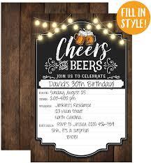 Amazon Com Cheers Y Cervezas Cumpleanos Invitacion O Adultos Fiesta De Cumpleanos Invitaciones 30 Anos De 40 Anos 50 Anos De 21 Anos 20 Llenar En Invitaciones Con Sobres Kitchen Dining