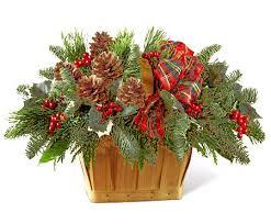 ftd coziness fresh pine basket