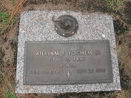william f yochem sr gravestone