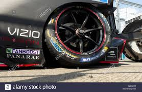 New York, NY - July 14, 2019: Jean Maria Lopez of Geox team crashes  electric racing car during New York City E-Prix 2019 Formula E Round 13 at  Red Hook Stock Photo - Alamy