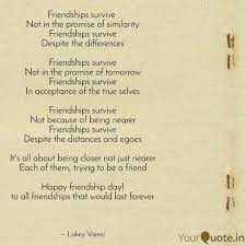 friendships survive not quotes writings by vamsi k l