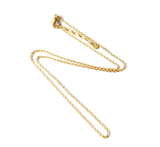 pure gold men necklace adzuki bean