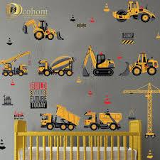 Cartoon Transport Cars Truck Digger Diy Wall Stickers For Kids Rooms Home Decor Boys Room Decoration Vinyl Art Wall Poster En Unsarcas Me