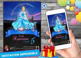 Invitacion Digital Virtual De Princesa Cenicienta 100 00 En