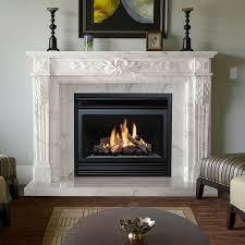 canterbury marble fireplace mantel