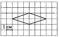 Найдите площадь ромба, изображённого на клетчатой бумаге с ...