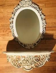 vintage 60s mirror wall shelf syroco