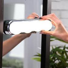 portable led vanity mirror lights silver