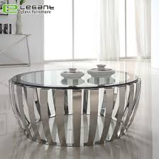 china modern round clear tempered glass