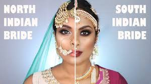 vs south indian bridal makeup