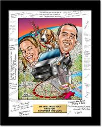 custom going away caricatures from a photo