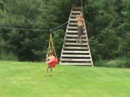300 foot zip line from house to tree