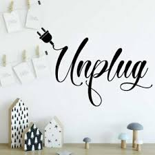 Unplug Relax Creative Break Room Living Room Decor Decal Quote Wall Sticker Ebay