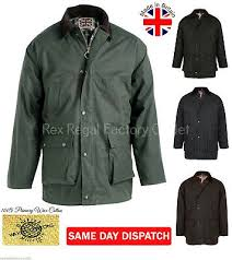 mens padded wax cotton jacket with hood