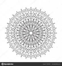 Coloring Boek Mandala Cirkel Lace Sieraad Ronde Decoratieve