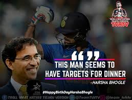 here it is the best quotes of harsha troll virat haters