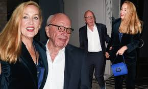 Jerry Hall joins husband Rupert Murdoch for dinner date in Los ...