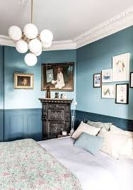 two tone walls blue bedroom walls