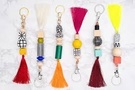 beaded keychains diy crafts keychain